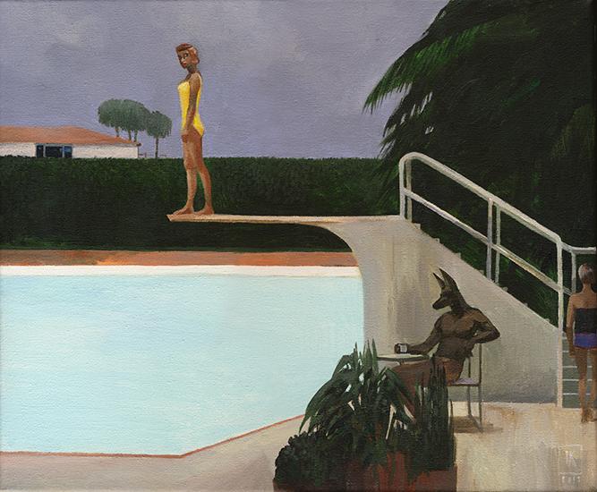 Anubis and L A  Woman | Art by Joanna Karpowicz