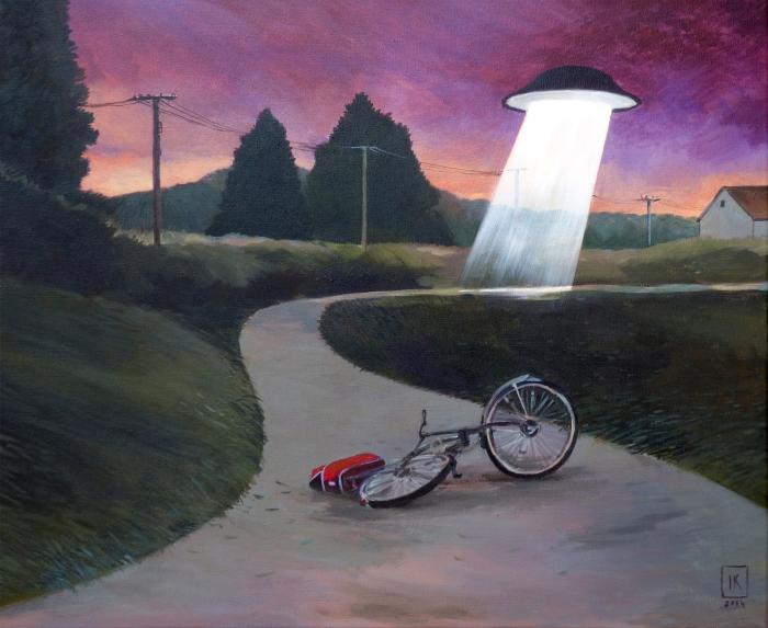 "Joanna Karpowicz / ""Abduction"", 50 x 60 cm, acrylic on canvas, 2014"