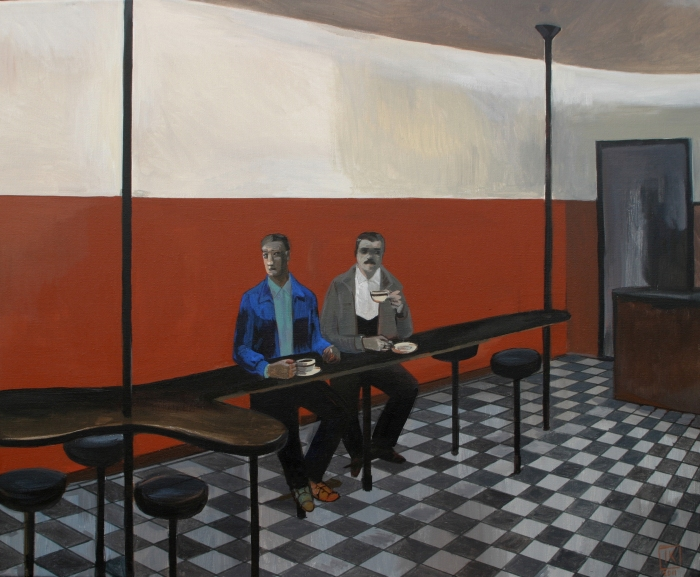 "Joanna Karpowicz / ""The Couple"", 54 x 65 cm, acrylic on canvas, 2011"