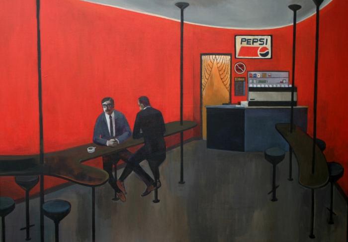 "Joanna Karpowicz / ""Cafe Rio"", 70 x 100 cm, acrylic on canvas, 2011"