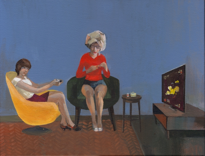 "Joanna Karpowicz / ""Girls"", 27 x 35 cm, acrylic on canvas, 2015."