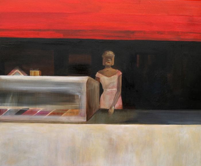 "Joanna Karpowicz / ""Best ice-cream in town"", 54 x 60 cm, acrylic on canvas, 2011"
