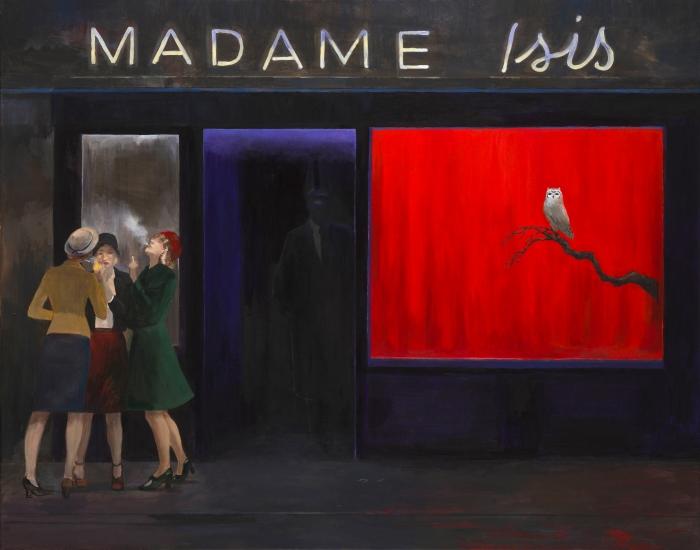 """Joanna Karpowicz """"Madame Isis"""", 74 x 92 cm, akryl na płótnie, 2016"""