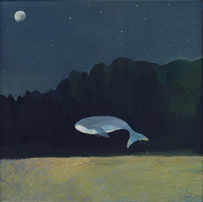"Joanna Karpowicz / ""Nightfish"", 30 x 30 cm, acrylic on canvas, 2014"