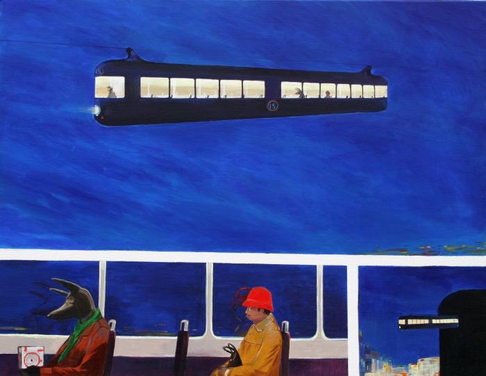 "Joanna Karpowicz / ""15th"", 70 x 100 cm, acrylic on canvas, 2012"