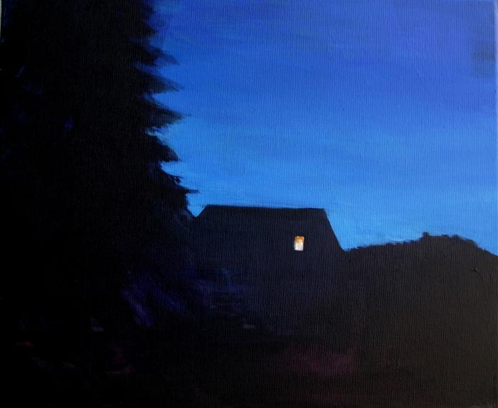 """Joanna Karpowicz / """"Szczebrzeszyn"""", 38 x 46 cm, acrylic on canvas, 2013"""