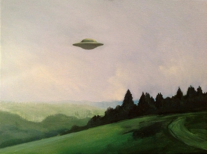 "Joanna Karpowicz / ""I want to believe"", 30 x 39 cm, acrylic on canvas, 2013"